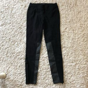 Black Madewell pants with leather